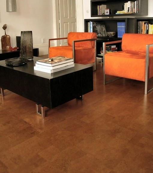 Brick Chocolate Cork Flooring · BrickChoco